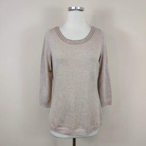 Banana Republic Embellished Neckline Sweater